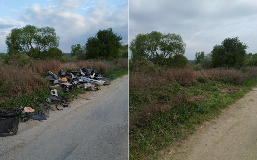 Teljesen megtisztult az illegális hulladékoktól  a Pécs-Vasast és Romonyát összekötő út