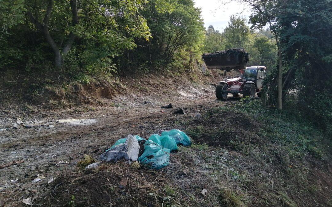 Újabb illegális hulladéklerakót számoltunk fel